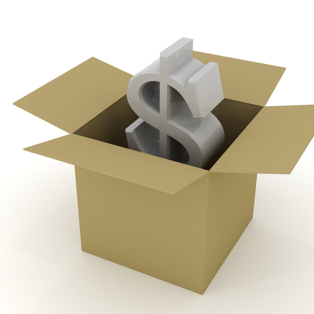 dolar v krabici