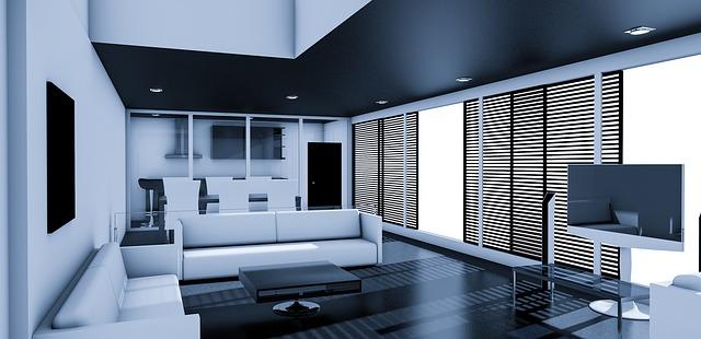 bíločerný obývák