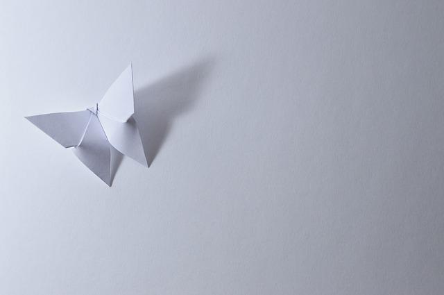origami motýl