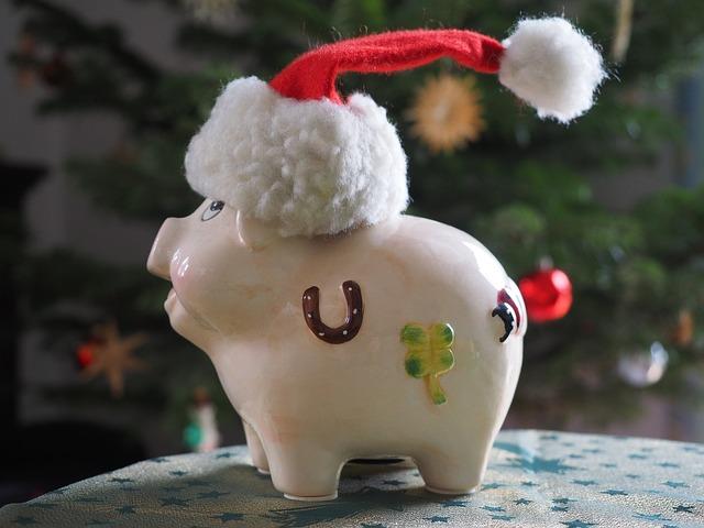 prase s vánoční čepicí, pokladnička.jpg